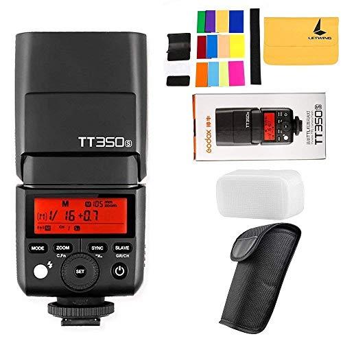 Godox TT350S TTL - Flash per Sony HSS 1 8000s 2,4 G senza fili con 12 filtri colorati, compatibile con Sony A7R A7S A7RII A6300 A6000 A58 A99 ILCE6000L A77II RX10 ecc.