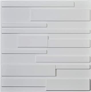 Art3d White Wall Panels Brick Design 3D Wall Panels, White, 12 Tiles 32 Sq Ft