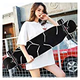OFFA 42x10 Inch Skateboards Deck,longboards Cruiser Skateboards, Longboard Complete Beginners Men Girls Teens Adults, 9 Layer Maple Double Kick Deck Concave Skateboard for Extreme Sports and Outdoors