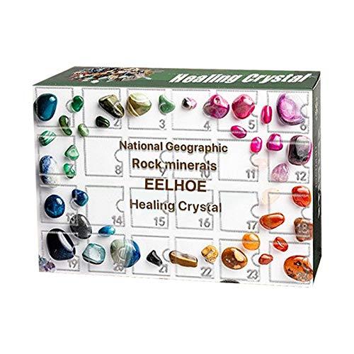 Henreal Adventskalender Blind Box Packaging Minis 12/24 Tage Countdown Steinsammlung Schmuck Geschenk Ore, 14 * 12 * 5cm