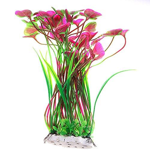 HuntGold 40 cm Aquarium Dekor PVC Simulation Fisch Tank Künstlich Unterwasser Gras Wasser Pflanze Violett