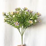 Sonze Flores Artificiales Falsas,Oficina,Fiesta, Hotel, alféizar de Ventana Decoración,Pequeñas Flores de simulación de Margaritas, idílico Homenaje-púrpura_10 PCS