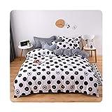 Colorplastic Juego de ropa de cama con rayas amarillas y grises, tamaño matrimonial y tamaño king, 4 piezas, juego de funda...