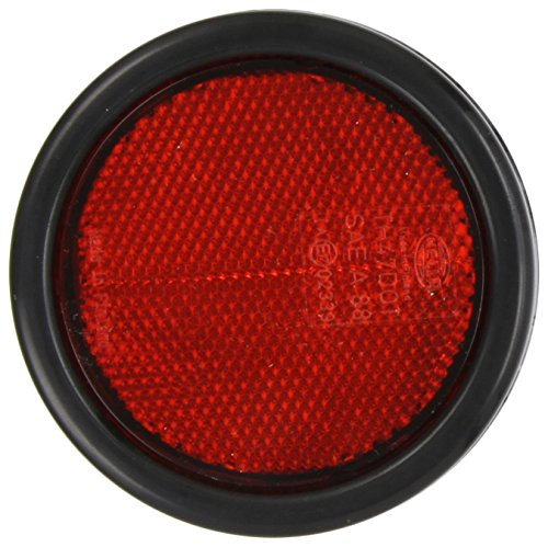 HELLA 8RA 002 016-121 Rückstrahler - rot - rund - Anbau/geschraubt - hinten