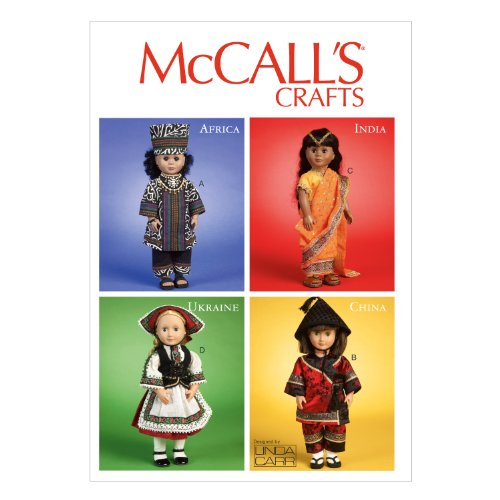 McCall Pattern Company M6855 International Clothes and Accessories for 18-Inch Doll Sewing Template, One Size