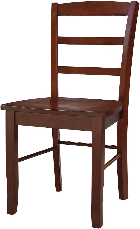 International Concepts C581-2P Madrid Ladder Back Chair, Espresso