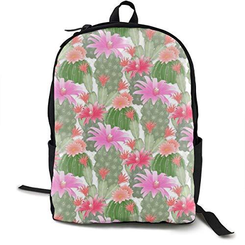 zhengchunleiX Travel Daypacks,Casual Rucksack,Sports Book Bags,Cactus Garden Unique Mochila Durable Oxford Outdoor College Students Busines Laptop Computer Shoulder Bags
