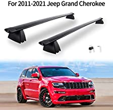 Crossbars Roof Rack Compatible for 2011-2021 Jeep Grand Cherokee Aluminum ABS Cargo Carrier Kayak Rooftop Luggage Crossbar Max Load 155 LBS