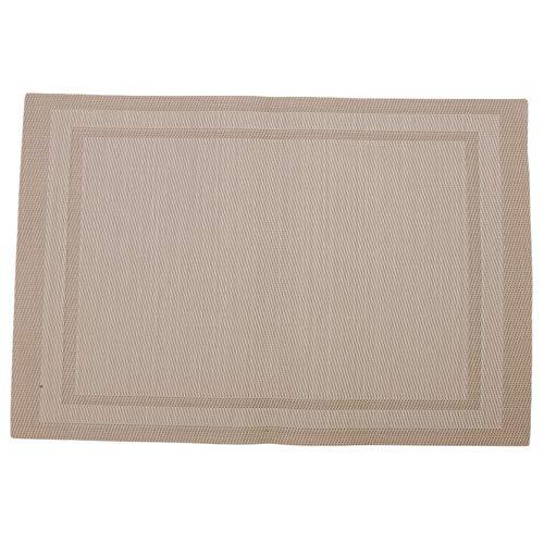 DYSCN Rutschfestes Und Waschbares PVC-Tischmatten-Antifouling-Peeling Und Hitzebeständiges Tischset, Beige