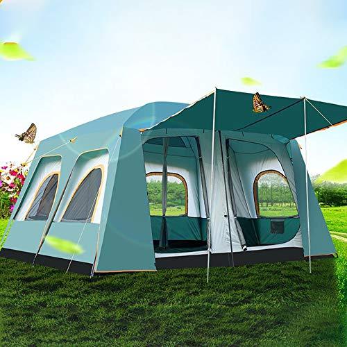 ZTBXQ Tente 10 Personnes, Tente Festival 10 à 12 Places, 100% Imperméable, Tente de Camping...