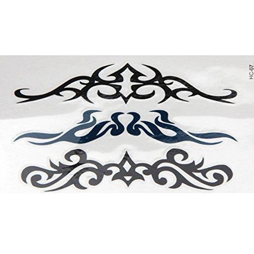 Liqiqi - Tatuajes temporales para Cuerpo, Cara, Brazo/Pulsera, Impermeables, Tatuajes temporales, Juego de Tatuajes temporales