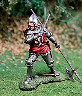 Medieval Knight Toy Soldiers English Man At Arms No.2 with Halberd and Sword Collectors Showcase Toy Soldiers Painted Metal Figure 54mm-56mm CS00797 Britains Type