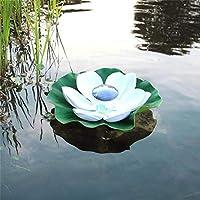 Shulan Shop Kitchen 屋外防水池水フロートランプソーラーロータスランプガーデンランプ希望ランプ