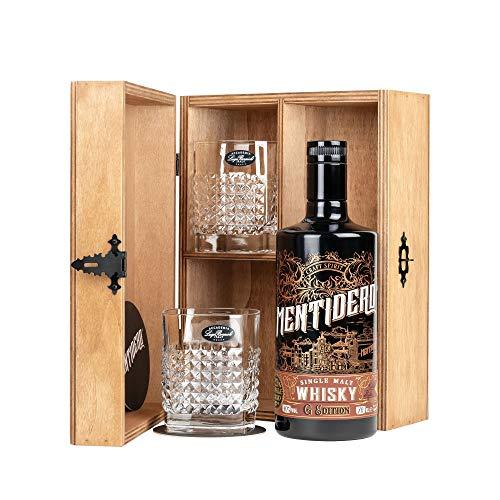 Mentidero G Edition Craft Whisky Puro de Malta Ahumada - 5 años single-cask 70cl - Set Regalo con 2 vasos