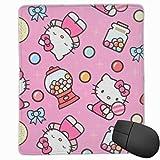 N\A Alfombrilla de ratón Antideslizante Hello Kitty con Alfombrilla de ratón Premium Candy para Consolas de Teclado de Ordenador portátil de Escritorio