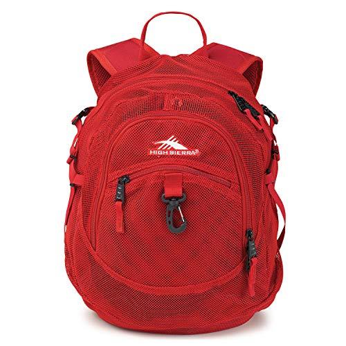 High Sierra Airhead Mesh Backpack, Red, 19.5 x 13 x 7-Inch