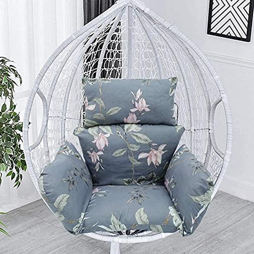ハンモックチェアクッション、卵のぶら下げバスケットシートクッション滑り止めスイングチェアクッション安静のためのジッパーデザインと椅子を含まな