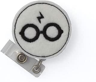 Wizard Glasses Badge Reel (Alligator Clip)