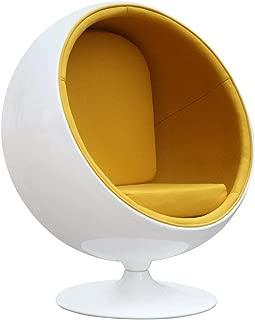 FineMod Fiberglass Ball Chair, Yellow