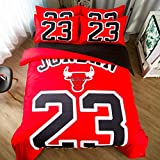 3D NBA Duvet Cover Printed Basketball Team Bedding Sets Soft Microfiber Kids Teenagers Adult Boys Bed Set,3pcs 1 Duvet Cover 2 Pillowcas(No Comforter), Queen