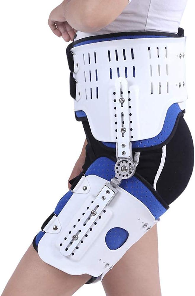 Ortesis de soporte estabilizador de cadera con bisagras ROM, soporte corrector estabilizador ortesis de abducción de cadera con bisagras para adultos para cadera, alivio del dolor del nervio ciático