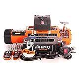 Rhino 12V Verricello Elettrico con Cavo Sintetico e Telecomando 13500lb / 6125KG