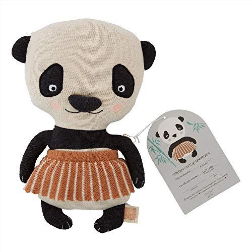 OYOY Mini Dekokissen Lun Lun Panda Bear - Zierkissen/Kinderkissen für Kinder Wattiert aus Baumwolle