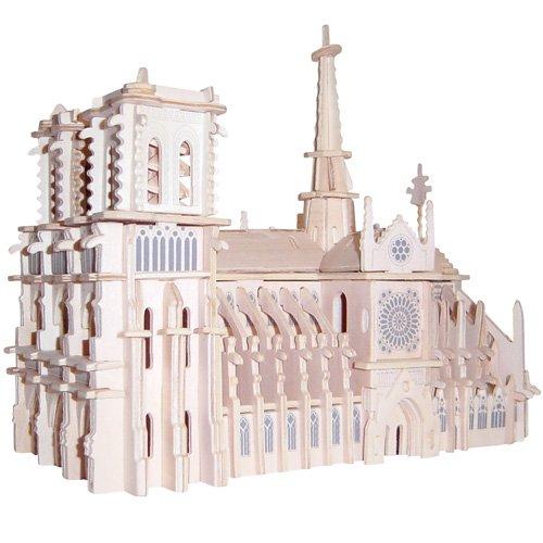 Etna Kathedrale Notre Dame 3D Holzbausatz Gebäude Haus Steckpuzzle Bauwerk Holzpuzzle GP151