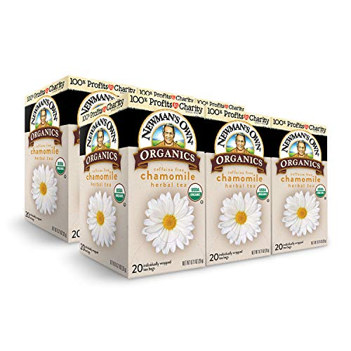 Newman's Own Organics Chamomile Herbal Tea, 20 Individually Wrapped Tea Bags (Pack of 6)