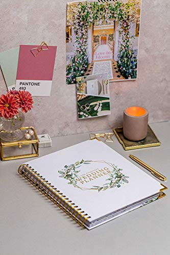 Product Image 7: Wedding Planner & Organizer – Floral Gold Edition – Diary Engagement Gift Book & Calendar