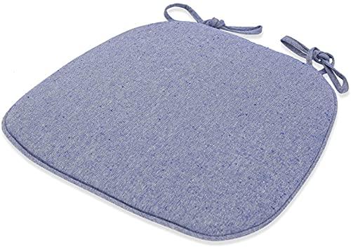 WHZG - Cuscino per sedia a ferro di cavallo, per ufficio, casa, sala da pranzo, cuscino antiscivolo, per quattro stagioni, colore: blu, dimensioni: 43 x 41 x 35 cm