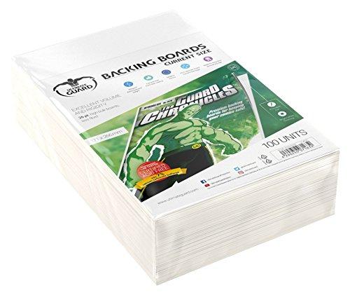 Certificado 100% libre de ácido El lado frontal con de alta calidad Dimensiones de 171 x 266 mm Adecuado para un almacenamiento seguro de los cómics