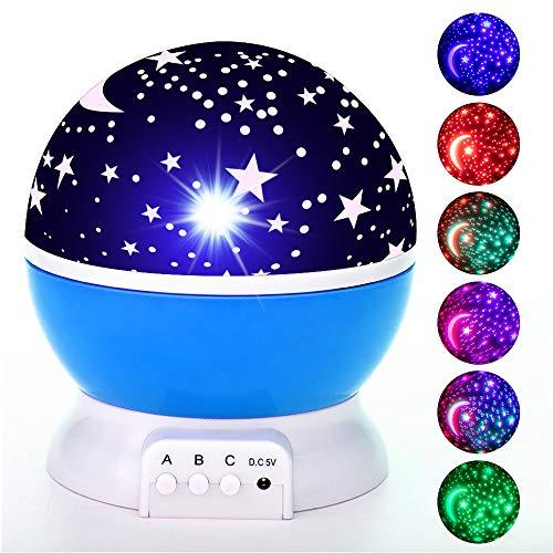 7 Farben 3D Mondlicht Koran rezitieren Bunte Nachtlampe Runde für Lesen Studieren Schlafsaal Schlafzimmer,Blue
