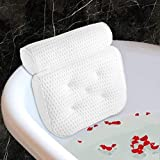 Fitheaven Bath Pillow for Bathtub, Hot Tub, Jacuzzi and Home Spa. Spa Pillow for Women & Men,with 4D Air Mesh Breathable,Helps Support Head, Neck, and Back
