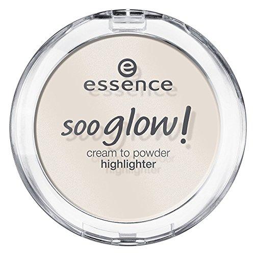 Essence soo glow! cream to powder highlighter Nr. 10 look on the bright side Inhalt: 4g Highlighter Cream to Powder mit leichtem Schimmer - für ein natürliches, strahlendes Finish. Highlighterpowder-Cream.