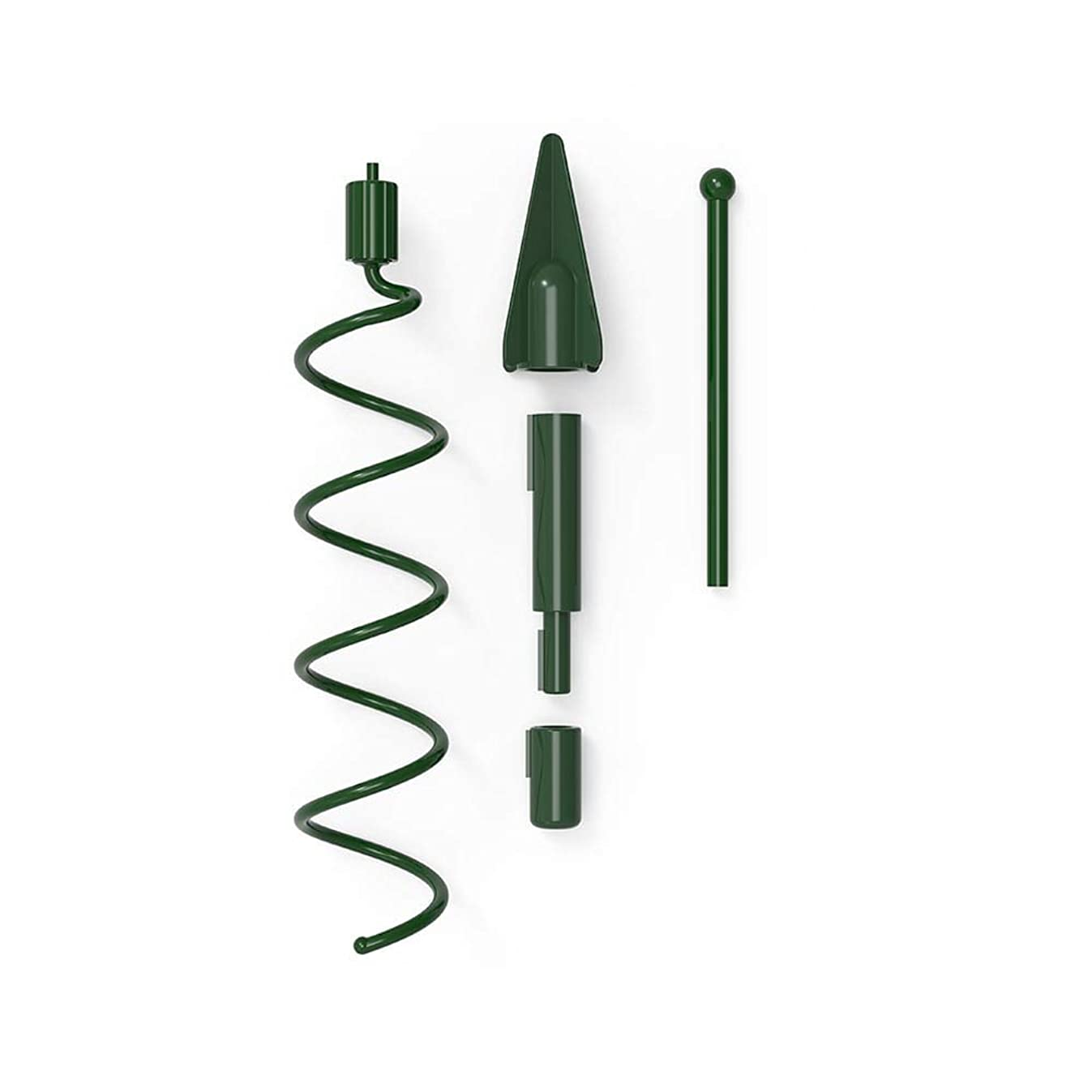 VILLAGE LIGHTING COMPANY Christmas Twist-On Holiday Universal Tree Topper Holder - Metal Green Support Rod with Adjustable attachments to stabilize Seasonal Tree Topper Ornaments