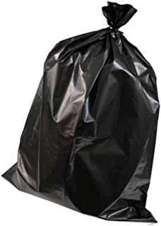 Enov CMR311-BK Compactor Refuse Bag, 300 Gauge, 25 kg Capacity, Black (Pack of 100)