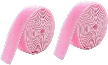 2 unidades de pacote de fita Fita de seda decorativa de Natal para uso em decoração 2cm 10g (rosa)