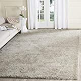 Safavieh Ultimate Shag Collection SGU211C Handmade Solid 1.6-inch Thick Area Rug, 8' x 10', Sand / Ivory