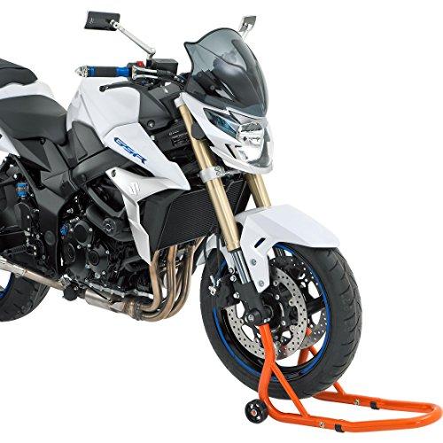 Hi-Q Tools Montageständer Motorrad Ständer Motorradheber Montageständer vorne Gabel, für Servicearbeiten wie z. B. Reifenwechsel, Felge reinigen, Überwinterung, passend für Modelle mit Ertiefungen in den Gabelenden