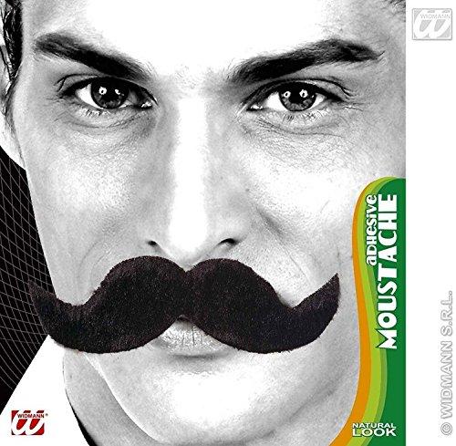 Widmann 0835o ? Moustache autocollants modèle ambassadeur, Taille unique, noir