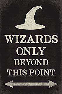 Keep Calm Collection Wizards Only Beyond This Point, Poster Print