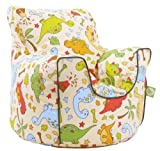 Cotton Dinosaur Bean Bag Arm Chair with Beans