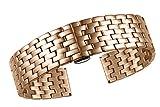 17mm Haute qualité Bracelet en Acier Inoxydable 316l Rose Boucles d'oreille Montres...
