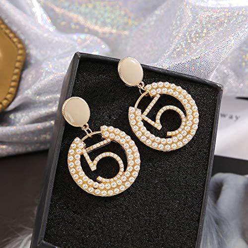 Círculo, Oro, Plata, Pendientes Colgantes, Largos, Retro, con Diamantes de imitación, Pendientes para Mujer, Moda, 6626