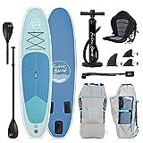 FabricBoard 10'6', Tabla de Paddle Surf Hinchable, Adultos Unisex, Ocean Blue + Kayak Seat