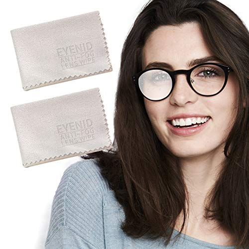 EYENID Eyeglasses Anti Fog Cloth Lens Cleaning Cloth Reusable 1000 Times Anti Fog Wipes for All Electronic Device Screens,Glasses,Mirror, Motorcycle Helmet (2 Pack)