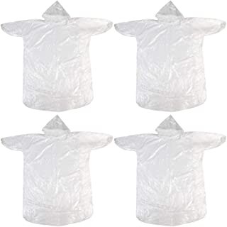BESPORTBLE 4pcs Disposable Protective Coveralls Waterproof Protective Body Suit Raincoat Security Protection Coveralls for Outdoor Working