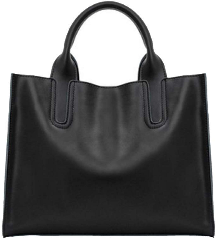 Huasen Evening Bag Female, Handbag, Fashion, Simple, Leather Bag, Shoulder Bag Party Handbag (color   Black, Size   One Size)