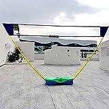 DYJD Lindo Plegable de Voleibol de Voleibol Pop Up Badminton Set Badminton Net para jardín Deportes al Aire Libre Interior,Verde